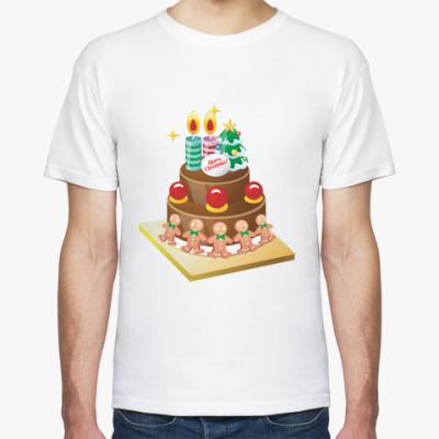 Футболка Рождественский торт
