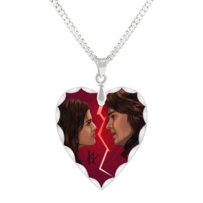 Кулон 'сердце'  Rose Hathaway & Dimitri Belikov. Vampire Academy