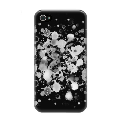 Чехол для iPhone 4/4s Мраморные капли