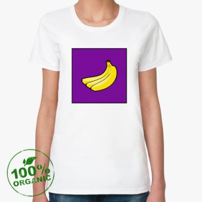 Женская футболка из органик-хлопка Бананчики