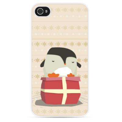 Чехол для iPhone Пингвин на подарке