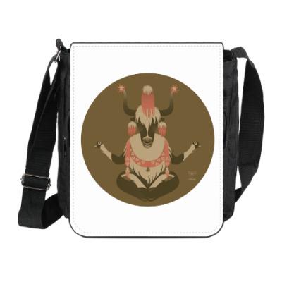 Сумка на плечо (мини-планшет)  Animal Zen: Y is for tibet Yak