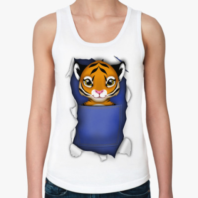 Женская майка 'Тигр'