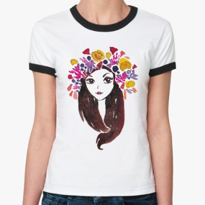 Женская футболка Ringer-T приносящая удачу