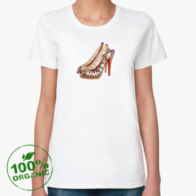 Женская футболка из органик-хлопка Туфельки