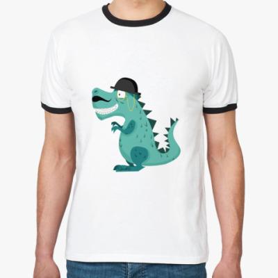 Футболка Ringer-T Крокодил 'Like a SIR'
