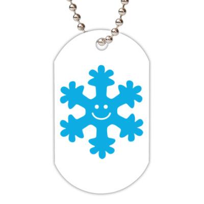 Жетон dog-tag Снежинка