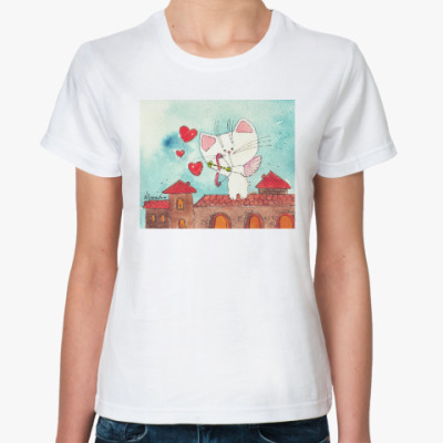 Классическая футболка  Лови любовь