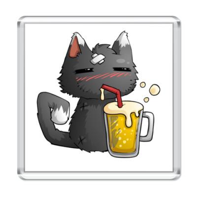 Магнит Пьющий кот