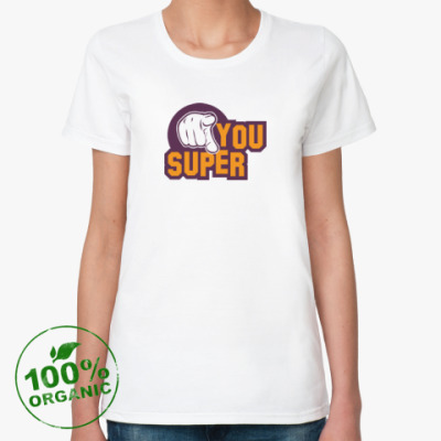 Женская футболка из органик-хлопка U Super