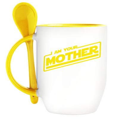 Кружка с ложкой Я твоя мать