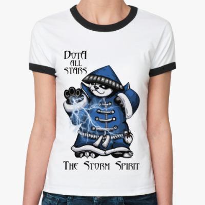 Женская футболка Ringer-T The Storm Spirit
