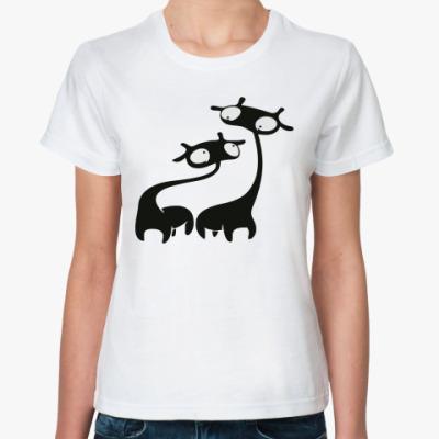 Классическая футболка  Жираф