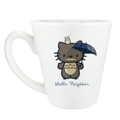 Чашка Латте Hello Totoro