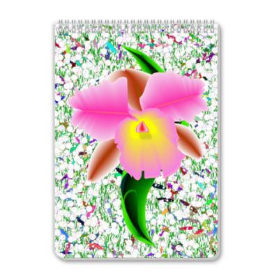 Блокнот Блокнот  Орхидея