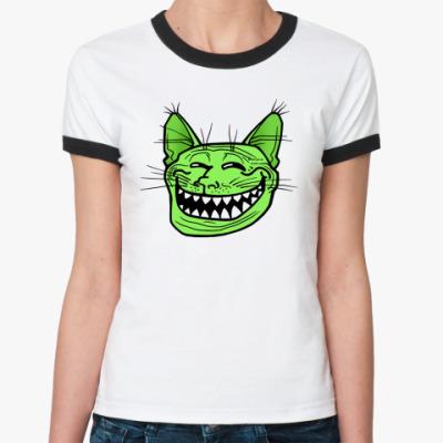 Женская футболка Ringer-T Кото-тролль