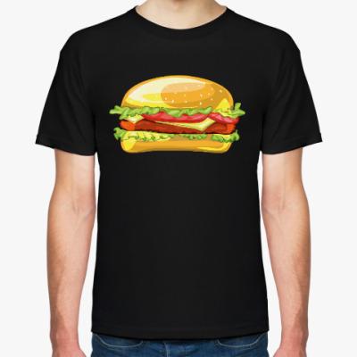 Футболка Чизбургер в мультяшном стиле