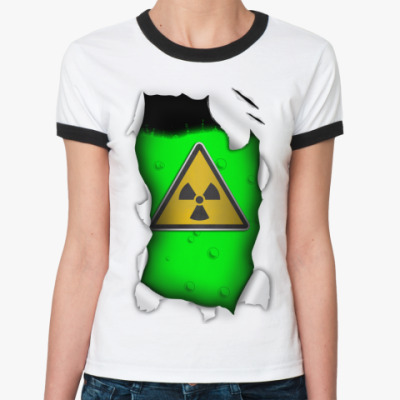 Женская футболка Ringer-T Радиация