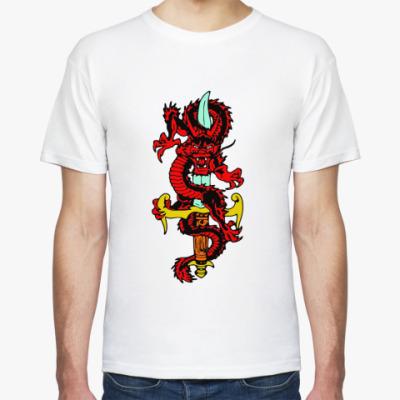 Футболка Дракон и меч