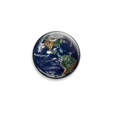 Значок 25мм Земля