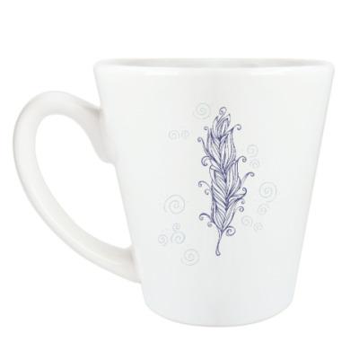 Чашка Латте пёрышко
