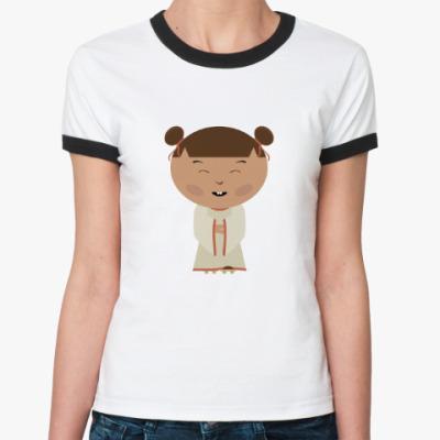 Женская футболка Ringer-T Японская девочка