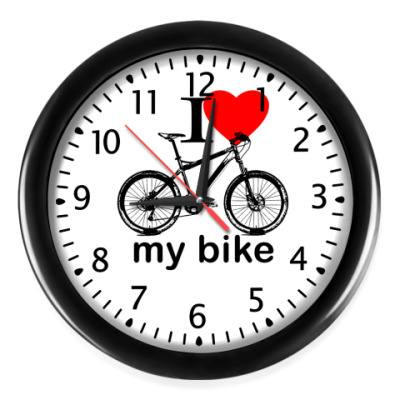 Настенные часы I Love My Bike!