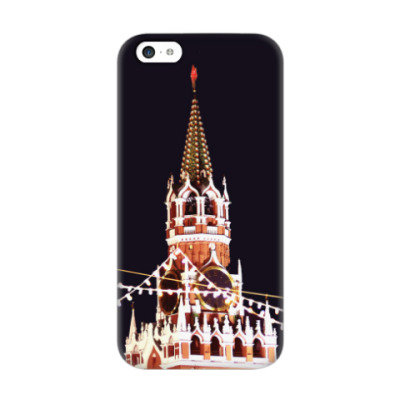 Чехол для iPhone 5c Новогодний Кремль