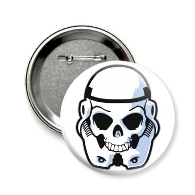 Значок 58мм Trooper Skull