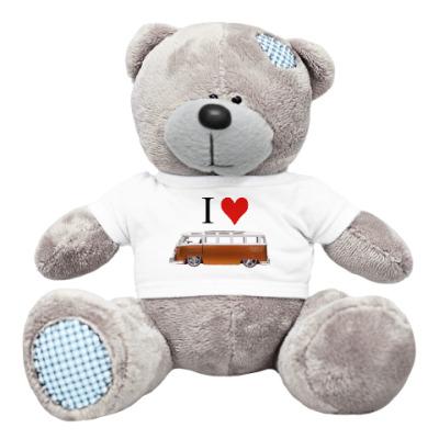 Плюшевый мишка Тедди I Love Bus