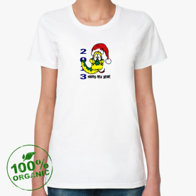 Женская футболка из органик-хлопка Happy new year 2013