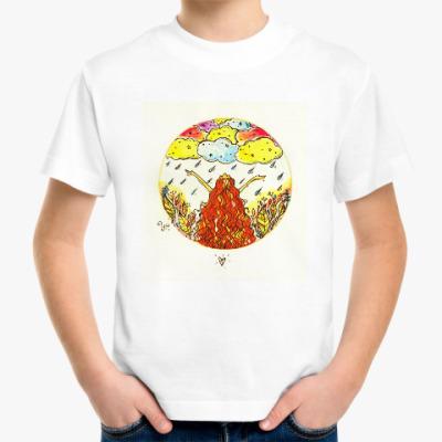 Детская футболка Дождь