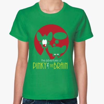Женская футболка Приключения Пинки и Брэйна