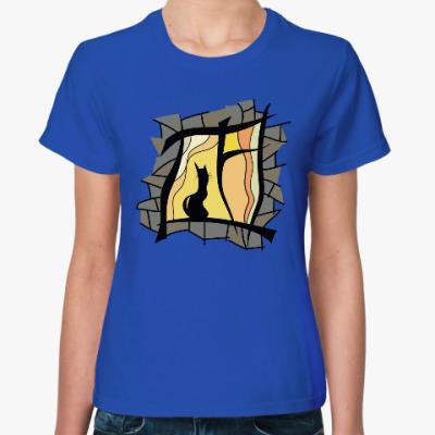 Женская футболка Загадки ночного окна