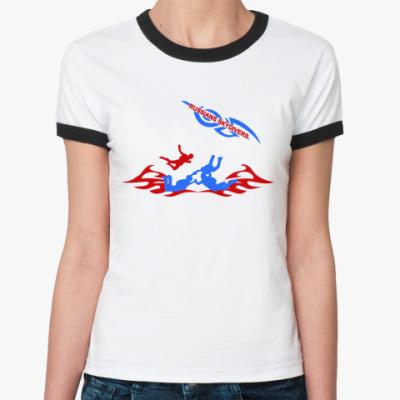 Женская футболка Ringer-T RUSSIANS SKYDIVERS
