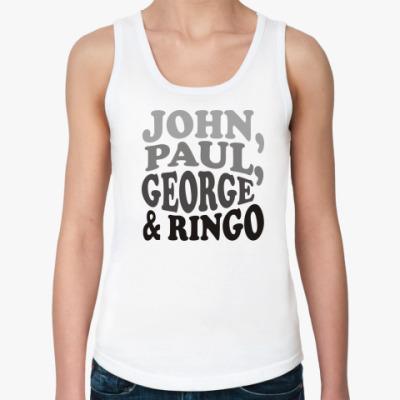 Женская майка John.Paul.George&Ringo (женск)