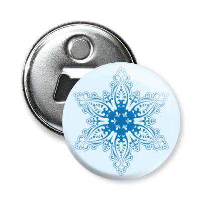 Магнит-открывашка   Снежинка