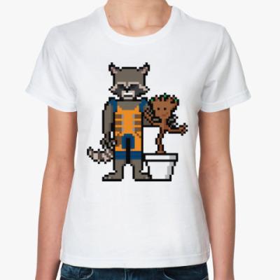 Классическая футболка Грут и Енот (Стражи Галактики)
