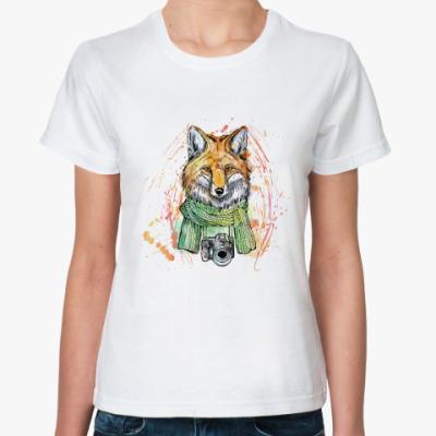 Классическая футболка Лиса-фотограф