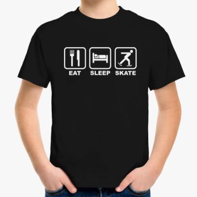 Детская футболка Eat Sleep Skate