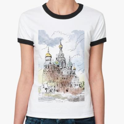 Женская футболка Ringer-T Собор Спас-на-Крови