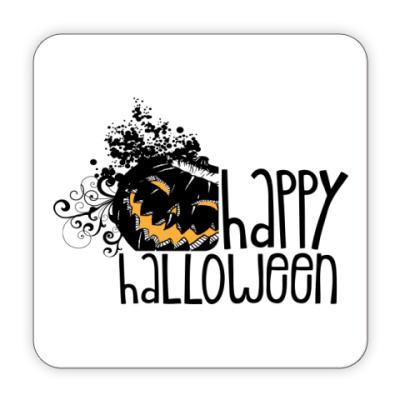 Костер (подставка под кружку) Happy Halloween!