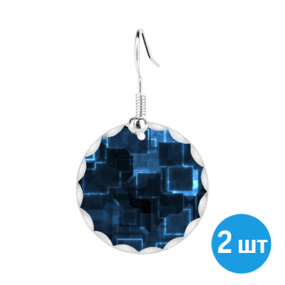 Серьги Синие модули