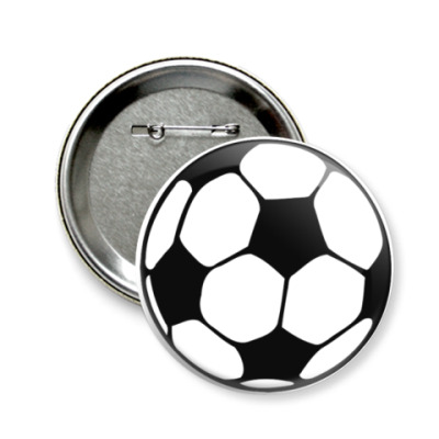 Значок 58мм Футбол