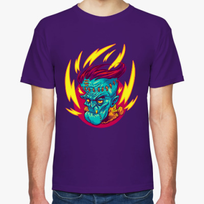 Футболка Франкенштейн в огне