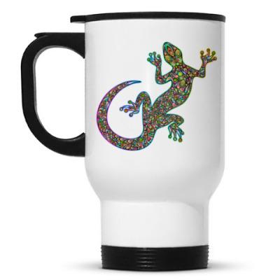 Кружка-термос Цветная ящерица