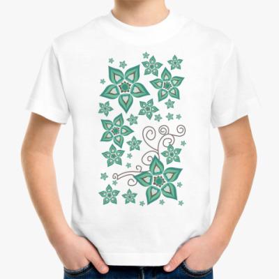 Детская футболка Цветочный орнамент