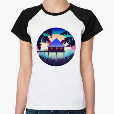 Женская футболка реглан Colorful Sunset