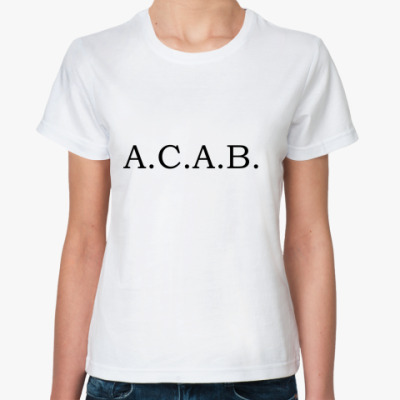 Классическая футболка  a.c.a.b.