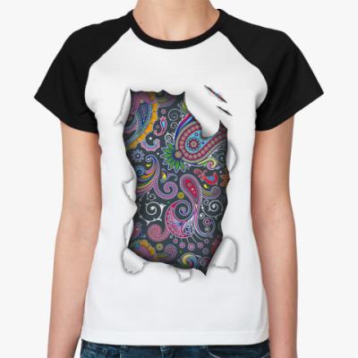 Женская футболка реглан Пейсли